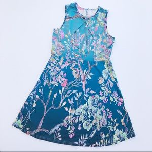 NWOT Simply Aster Teal Floral Dress